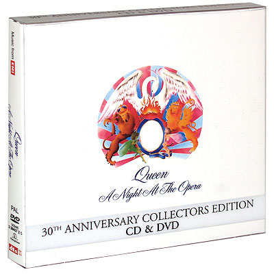Queen A Night At The Opera 30th Anniversary Collectors Edition (CD + DVD) Формат: CD + DVD (DigiPack) Дистрибьюторы: EMI Records Ltd , Queen Productions Ltd Лицензионные товары инфо 506f.